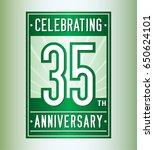 35 years anniversary design... | Shutterstock .eps vector #650624101