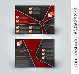 brochure mock up design... | Shutterstock .eps vector #650624374