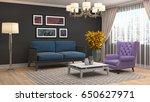 interior living room. 3d... | Shutterstock . vector #650627971