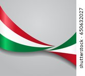hungarian flag wavy abstract... | Shutterstock . vector #650632027
