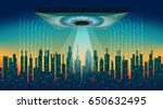 the digital city. big brother... | Shutterstock .eps vector #650632495