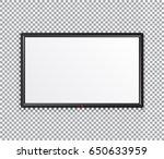 tv plasma  modern blank screen... | Shutterstock .eps vector #650633959