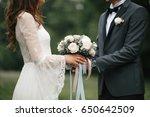 bride and groom | Shutterstock . vector #650642509