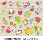 vector cute doodle collection... | Shutterstock .eps vector #650646511