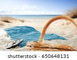 free space on towel for your... | Shutterstock . vector #650648131