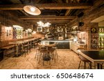 rustic wooden interior of... | Shutterstock . vector #650648674
