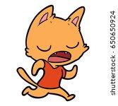 talking cat cartoon | Shutterstock .eps vector #650650924