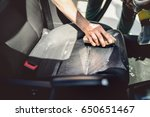 car care concept  detailing and ... | Shutterstock . vector #650651467