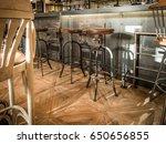 bar stools in coffee  interior | Shutterstock . vector #650656855