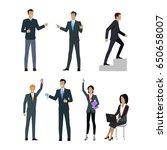 set of people managers wishing... | Shutterstock . vector #650658007