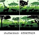 set of vector illustrations of... | Shutterstock .eps vector #650659624