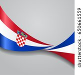 croatian flag wavy abstract... | Shutterstock . vector #650661559