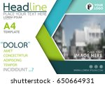 blue and green flyer cover... | Shutterstock .eps vector #650664931
