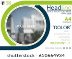 blue and green flyer cover...   Shutterstock .eps vector #650664934