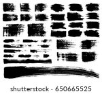 vector set of brush acrylic... | Shutterstock .eps vector #650665525
