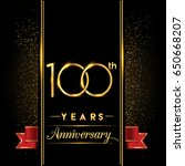 one hundred years anniversary... | Shutterstock .eps vector #650668207