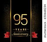 ninety five years anniversary... | Shutterstock .eps vector #650668234