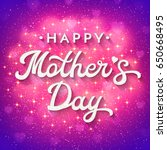 mothers day card with soft... | Shutterstock . vector #650668495