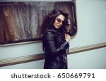 beauty woman portrait  street... | Shutterstock . vector #650669791