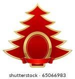 red christmas emblem | Shutterstock .eps vector #65066983