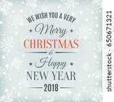 merry christmas and happy new... | Shutterstock . vector #650671321