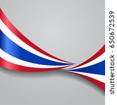 thai flag wavy abstract... | Shutterstock . vector #650672539