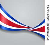costa rican flag wavy abstract... | Shutterstock . vector #650672761