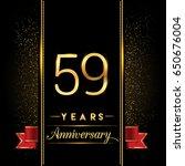 fifty nine years anniversary... | Shutterstock .eps vector #650676004