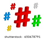 Set Color Hashtag Viral Web...