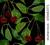 vector illustration of seamless ... | Shutterstock .eps vector #650682571