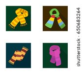 various kinds of scarves ... | Shutterstock .eps vector #650683264