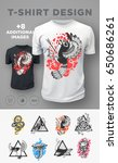 set of modern t shirt prints... | Shutterstock .eps vector #650686261