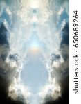 ethereal symmetrical clouds | Shutterstock . vector #650689264