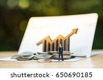 miniature peolple standing in... | Shutterstock . vector #650690185