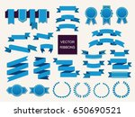 vector collection of decorative ... | Shutterstock .eps vector #650690521