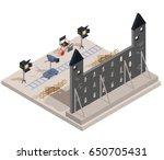 vector isometric illustration... | Shutterstock .eps vector #650705431