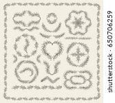 set of hand drawn vector... | Shutterstock .eps vector #650706259