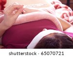 closeup portrait of young woman ... | Shutterstock . vector #65070721