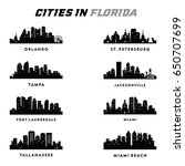 florida   cities silhouette