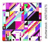 trendy geometric elements...   Shutterstock .eps vector #650710171
