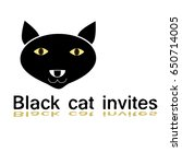 flat logo head black cat.... | Shutterstock .eps vector #650714005