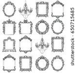 rich imperial baroque rococo... | Shutterstock .eps vector #650715685