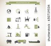 oil and petrol industry icons | Shutterstock .eps vector #650719534