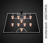 football  soccer  3d starting... | Shutterstock .eps vector #650724931
