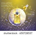 bottle cosmetics with... | Shutterstock .eps vector #650728537