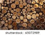 a pile of cut wood stump log... | Shutterstock . vector #65072989