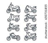 various vehicle doodle... | Shutterstock .eps vector #650731855