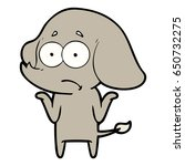 cartoon unsure elephant   Shutterstock .eps vector #650732275