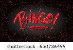 bingo hand drawn calligraphy... | Shutterstock .eps vector #650736499