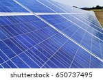 alternative solar energy. solar ... | Shutterstock . vector #650737495